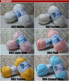 Wholesale Soft Smooth Natural Bamboo Cotton Knitting Yarn Lot Fingering 25Color   eBay