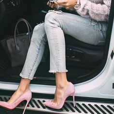 The #denim trend we can't get enough of - frayed hems! : @hellofashionblog  // Follow @ShopStyle on Instagram to shop this look