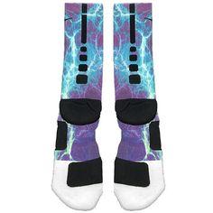 Fast Shipping!! Nike Elite Socks Customized Kaboom Teal Purple $26.00