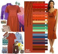 Красно-рыжий. При сочетании красно-рыжего оттенка обратите внимание на такие цвета, как китайский красный, красно-оранжевый, цвет ржавчины, медный, морковный, красно-оранжевый, песочный цвет, изумрудный, мятный, бледно-зеленый, джинсовый, берлинская лазурь, антрацитовый, темно-фиолетовый, золотисто-каштановый и чайный цвет.