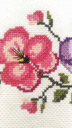 💞💞💞 Diy And Crafts, Recycling, Cross Stitch, Birds, Embroidery, Canvas, Inspiration, Cleaning Hacks, Cross Stitch Rose