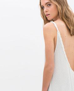 BRAIDED BACK DRESS from Zara