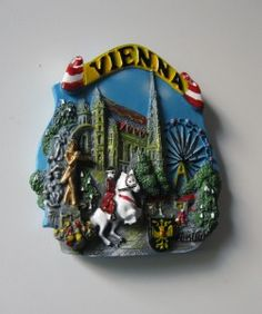 Vienna fridge magnet - Prater and others
