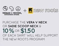 Support the #NewRoots program with 2 amazing organic cotton essential tees.  @International Rescue Committee #internationalrescuecommittee