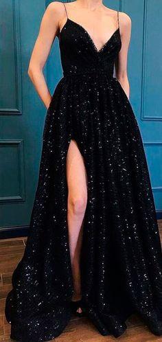Fashion luxury black sequins lace prom dress special occasions dresses from Show By Style Mode Luxus schwarz Pailletten Spitze Abendkleid besondere Anlässe Kleider Grad Dresses, Cheap Prom Dresses, Prom Party Dresses, Black Prom Dresses, Dresses Dresses, Long Formal Dresses, Homecoming Dresses Long, Prom Long, Summer Dresses