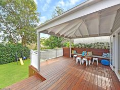 Craig Archer and wife Sarah's Sydney house renovations made them millionaires Spotted Gum Decking, Front Verandah, Backyard, Patio, Story House, Home Reno, Outdoor Areas, House Colors, Interior And Exterior