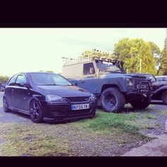 Corsa C Sri with a mates Landy, low and high life