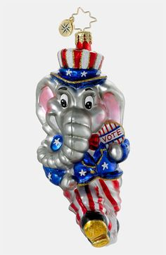 Christopher Radko 'The Elephant in the Room' Ornament