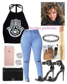 """Untitled #384"" by mindlesslovinforever21shoppinjaz on Polyvore featuring Steve Madden, Chanel and Napoleon Perdis"