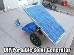 DIY Portable Solar Generator - What would you do if the lights went out…for good? Solar power for a SHTF situation is going to be essential.