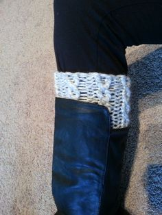 Loom Knit Cable Boot Cuffs Pattern