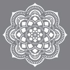 "Stencil, Mandala by DecoArt Americana, 18"" Sq.,"