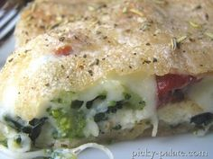 Ricotta Stuffed Spinach and Broccoli Pizza Pie.  OMG... this is seriously my favorite kind of pizza!