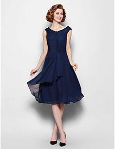 Kleid knielang dunkelblau