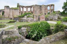 Ruins of Roman baths in Trier Germany