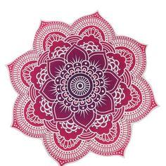 Indian Mandala Tapestry, Beach Towel or Yoga Mat