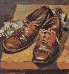 Velhos Sapatos - Grant Wood - Pintor norte-americano (1891-1942)