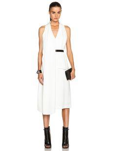Alexander Wang - White Wrap Dress with Belt.