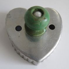 Vintage HEART Shaped COOKIE CUTTER with Green by shabbyshopgirls, $6.00
