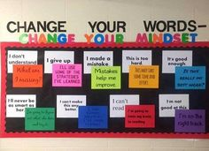 Awesome positive words board!
