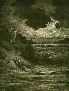 Purgatorio, de nalatigen, 2e terras, gewelddadig omgekomenen, Canto V, Bonconte da Montefeltro (1250 - 1289) was aanvoerder van de Ghibellijnen. Hij sneuvelde bij de slag van Campaldino, die plaatsvond op 11 juni 1289, gewonnen door de Welfen. Hij legt aan Dante uit waarom zijn lijk nooit is gevonden.