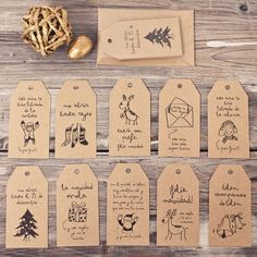 Graphic Design by Mr Wonderful This could be a good lesson to fill those short times. provide oodles of tags for them to decorate and bring home for the holidays. Christmas Gift Wrapping, Christmas Tag, Christmas Projects, Christmas Design, Christmas Crafts, Christmas Decorations, Navidad Diy, Mr Wonderful, 242