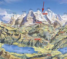 Grindelwald Hiking Map | Kleine Scheidegg Map