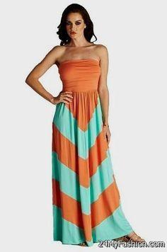 Cool orange chevron maxi dress 2017-2018 Check more at http://24myfashion.com/2016/orange-chevron-maxi-dress-2017-2018/