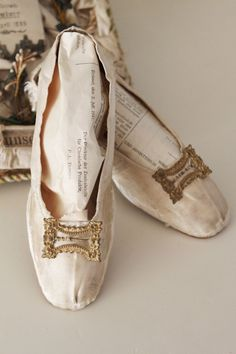 Dreamy Antique French Wedding Shoes