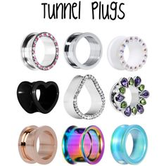Tunnel Plugs by bodycandy on Polyvore featuring piercings, plugs and Bodyjewelry