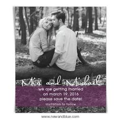 I love this save the date magnet! Now I just need to find the right picture for it!