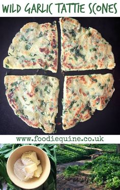 Nothing tastes as good as free food! In the Springtime go out foraging in a woodland, field or riverbank near you and fry up a batch of my Wild Garlic Tattie Scones. Ideal served with soup or as part of a full Scottish Breakfast. Vegetarian Breakfast, Breakfast Recipes, Vegetarian Recipes, Breakfast Ideas, Dessert Recipes, Scottish Recipes, British Recipes, Wild Garlic, Garlic Recipes