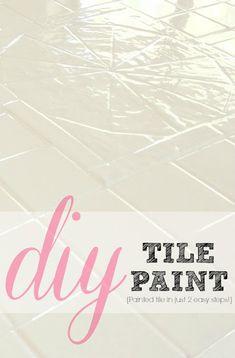 How to paint tile | LiveLoveDIY