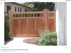 Custom Southwestern Driveway and Side Entry Gates - Hollywood, Pacific Palisades, Bradbury, CA Side Gates, Front Gates, Front Yard Fence, Entrance Gates, Wood Fence Gates, Wooden Gates, Fencing, Dog Fence, Japanese Fence
