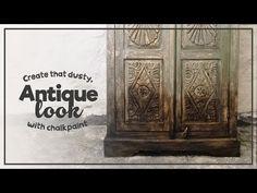 Chalkpaint - Skapa den smutsiga, antika looken - Create that dusty, antique look - YouTube