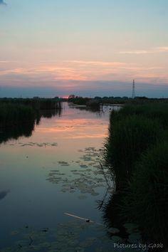 zonsondergang Oude Rijn