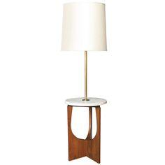 1stdibs | Vintage+Mid-Century+Floor+Lamp+with+Table