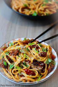 Nudle Udon s hlívou ústřičnou a rajčaty Spaghetti, Food And Drink, Ethnic Recipes, Noodle
