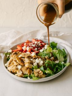 This Creamy Balsamic Vinaigrette is a quick, easy and simple creamy balsamic dressing you can use on salads or as a marinade. This is better than store-bought dressings! We keep a jar of this flavorful and healthy dressing in the fridge at all times. Creamy Salad Dressing, Salad Dressing Recipes, Salad Recipes, Salad Dressings, Homemade Balsamic Dressing, Creamy Balsamic Vinaigrette, Primal Kitchen, Chicken Flavors, Soup And Salad