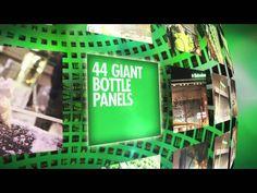 Heineken luminous wall http://designtaxi.com/news/354936/Heineken-Creates-A-Social-Media-Powered-LED-Screen-With-5-000-Beer-Bottles/