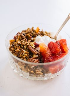 Gingerbread granola with yogurt - cookieandkate.com
