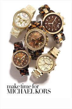 MICHAEL KORS WATCHES: one of my many obsessions