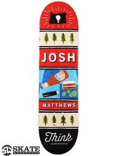 Think  Matthews Kit  skateboard  Deck  44.99 390246de4