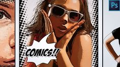 How to Make a Comic Book Cartoon Effect From a Photo in Photoshop In this tutorial you will learn how to transform an ordinary photo into a comic book cartoon effect using filters and other cool techniques in Adobe Photoshop Watch Video Tutorial… Advanced Photoshop, Cool Photoshop, Photoshop Photos, Photoshop Design, Photoshop Ideas, Photoshop Celebrities, Photoshop Website, Photoshop Projects, Photoshop Filters