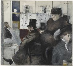 Page of In the Café de la Nouvelle-Athènes by FORAIN, Jean-Louis in the Web Gallery of Art, a searchable image collection and database of European painting, sculpture and architecture Jean Leon, Strategic Planning, 3 Arts, Feeling Special, Belle Epoque, Belle Photo, Impressionism, Jeans, Photo Art