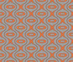 raindrop linen new orange fabric by holli_zollinger on Spoonflower - custom fabric