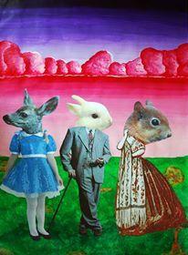 Collage de Belén Vargas.  Collage / Clase de Arte