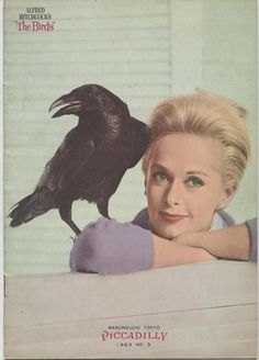 Tippi Hedren and crow - The Birds (1963) Japanese Pamphlet ヒッチコックの鳥