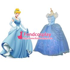 Free Shipping Disney Beautiful Princess Cinderella Dress Dancing Party Dress…