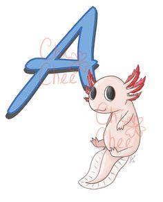 Babys-Alphabet - A für Axolotl